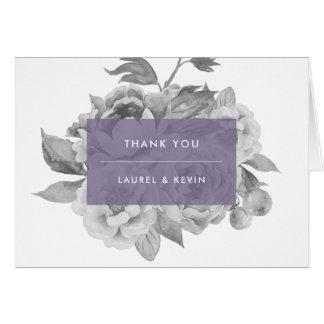 Vintage Floral Thank You Card | Violet