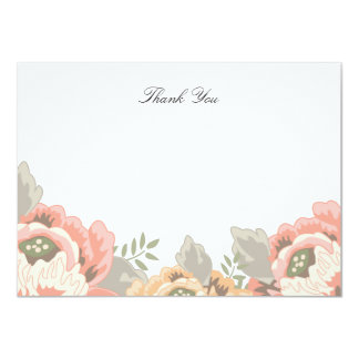Vintage Floral Thank You Note Card Personalized Invitation