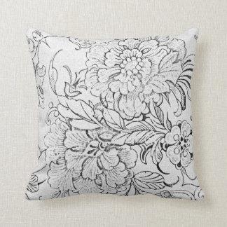 Vintage Floral Throw Pillows