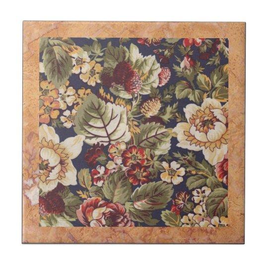 Vintage Floral Tile