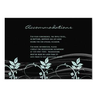 Vintage Floral Trim Black and Iced Blue Insert Card