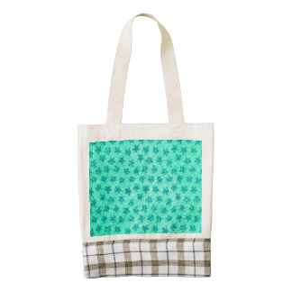 Vintage Floral Turquoise Mint Zazzle HEART Tote Bag