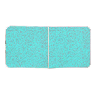 Vintage Floral Turquoise Teal Peacock Pong Table