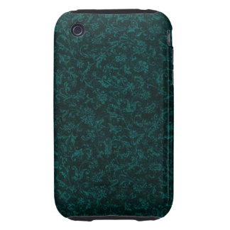 Vintage Floral Turquoise Teal Tough iPhone 3 Covers