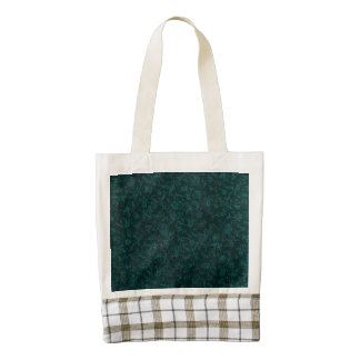 Vintage Floral Turquoise Teal Zazzle HEART Tote Bag