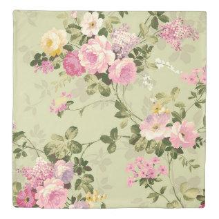 Vintage Floral Victorian Duvet Cover at Zazzle