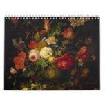 Vintage Floral Victorian Oil Paintings, 2017 Calendar