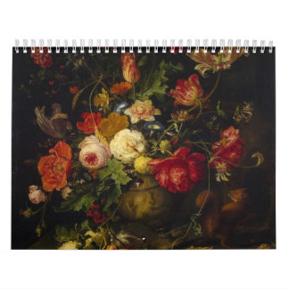 Vintage Floral Victorian Oil Paintings, 2018 Calendar