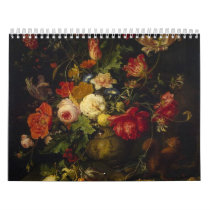 Vintage Floral Victorian Oil Paintings, 2019 Calendar