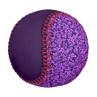 Vintage Floral Violet Purple Baseball