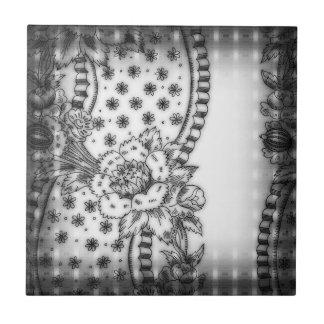 Vintage Floral Wallpaper Border Ceramic Tile