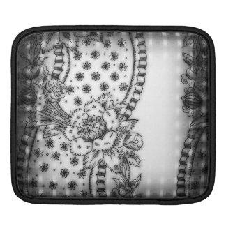 Vintage Floral Wallpaper Border iPad Sleeve