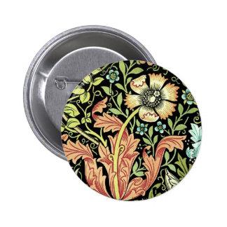 Vintage Floral Wallpaper Button