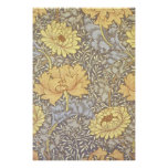 Vintage Floral Wallpaper Chrysanthemums Posters