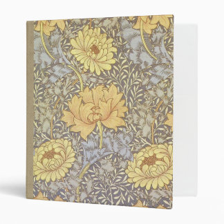 Vintage Floral Wallpaper Chrysanthemums Vinyl Binders