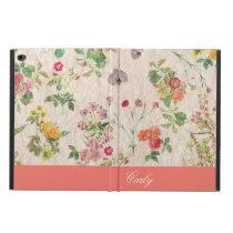 Vintage Floral Wallpaper Custom iPad Air 2 Case