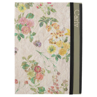 Vintage Floral Wallpaper Custom iPad Pro Case