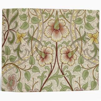 Vintage Floral Wallpaper Design - Daffodil Binder