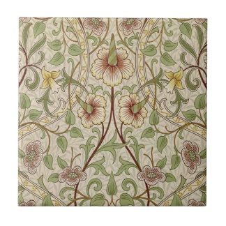 Vintage Floral Wallpaper Design - Daffodil Ceramic Tile