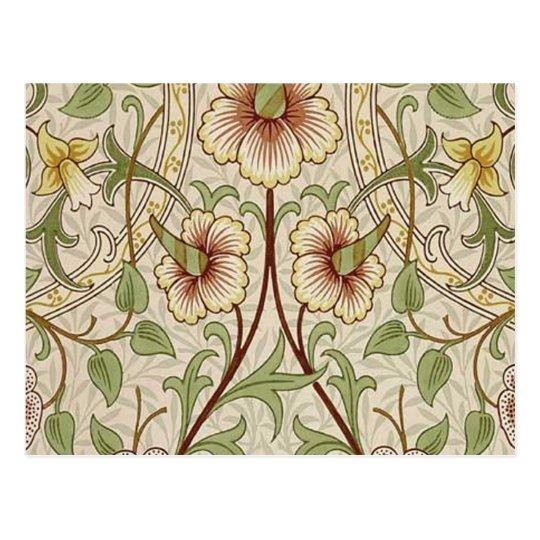 Vintage Floral Wallpaper Design - Daffodil Postcard