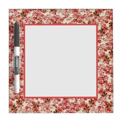 vintage floral wallpaper dry erase boards zazzle