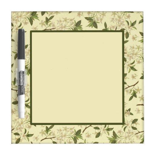 vintage floral wallpaper dry erase whiteboards zazzle