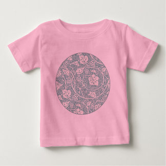 Vintage Floral Wallpaper Grape Pattern Baby T-Shirt