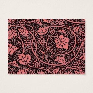 Vintage Floral Wallpaper Grape Pattern Business Card