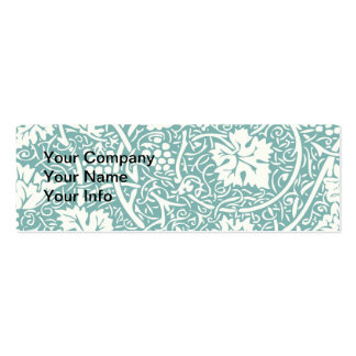 Vintage Floral Wallpaper Grape Pattern Double-Sided Mini Business Cards (Pack Of 20)
