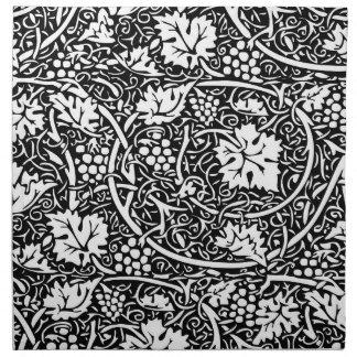 Vintage Floral Wallpaper Grape Pattern Cloth Napkin