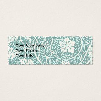 Vintage Floral Wallpaper Grape Pattern Mini Business Card