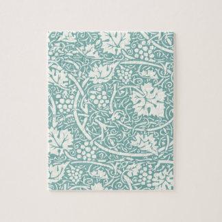 Vintage Floral Wallpaper Grape Pattern Puzzles