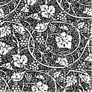 Vintage Floral Wallpaper Grape Pattern Statuette