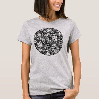 Vintage Floral Wallpaper Grape Pattern T-Shirt