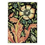 Vintage Floral Wallpaper Greeting Cards