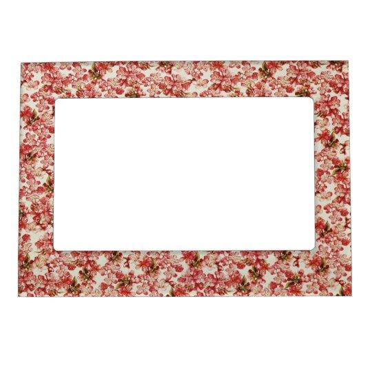 Vintage Floral Wallpaper Magnetic Picture Frame