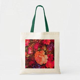 Vintage Floral Wallpaper Pattern Tote Bag