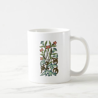 Vintage Floral wallpaper pattern designer yellow Coffee Mug