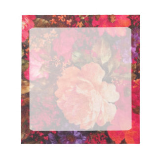 Vintage Floral Wallpaper Pattern Memo Pad