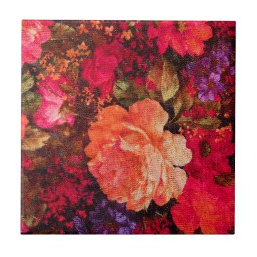 Vintage Floral Wallpaper Pattern Tiles