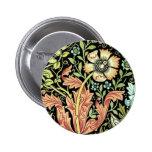 Vintage Floral Wallpaper Pins