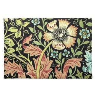 Vintage Floral Wallpaper Place Mat