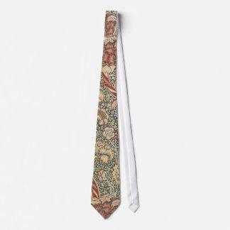 Vintage Floral Wallpaper Silky Mens' Neck Tie
