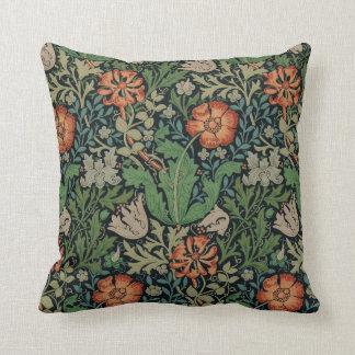 Vintage Floral Wallpaper Trendy Morris Compton Pillow