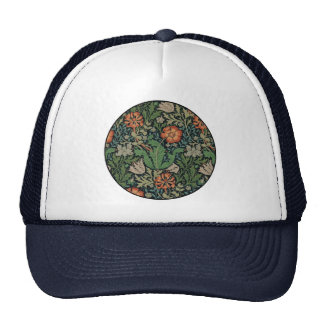 Vintage Floral Wallpaper Trendy Morris Compton Trucker Hat