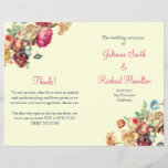 """Vintage Floral Wedding Ceremony Folded Program<br><div class=""""desc"""">Whimsical vintage wedding program, fully customisable and personalised, inspired by the flemish baroque painting. This vintage wedding program Antique Garden Collection and would be perfect for a vintage or floral wedding. I do offer free customisation service, in this design the background and typography color are customisable, if you have any...</div>"""