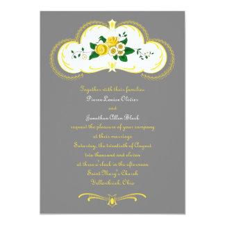 Vintage Floral Wedding Ceremony Invitation