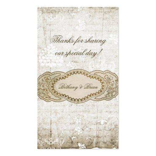 Vintage Floral Wedding Favor Gift Tags Business Card