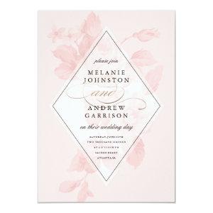 Vintage floral wedding invitation 5