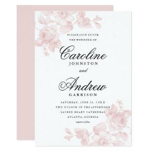 Vintage Floral Wedding Invitations | Zazzle